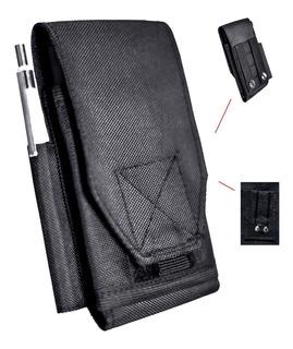 Porta Celular Táticobr Militar P/ Colete Modular Ou Cinto C/ Clip, Prendedor Ou Abotoado C/ Porta Canetas Finas + Barato
