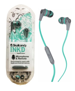 Audifono Skullcandy In Ear Ink´d Gray Mint