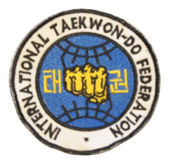 Escudo Bordado Taekwondo Itf Granmarc Dobok Pats Parche Logo