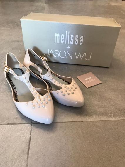 Melissa Doris + Jason Wu Bege Tam 35 Com Caixa Original