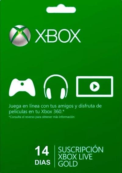 Xbox Live Gold 14 Dias Xbox 360/ One - 25 Dígitos