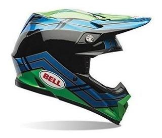 Bell Moto-9 Airtrix Stance Azul / Verde Casco De Motocross -