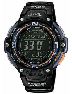 Reloj Casio Iluminator Twin Sensor Brujula Termometro Sgw100