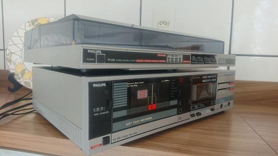 Tape Deck Philips Fc 210 E Toca Discos Philips Fp 210