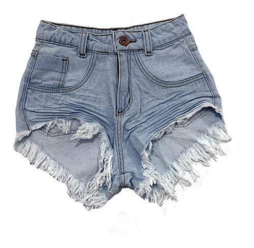 Shorts Jeans Feminino Customizado Hot Pants Manchado St014