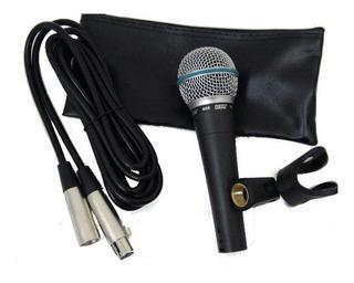 Micrófono Dinamico Moon Con Cable Cannon Y Estuche