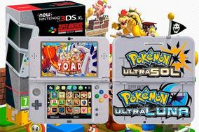 New Nintendo 3ds Xl + 2000 Jogos + Pokemon Mario Zelda 64gb
