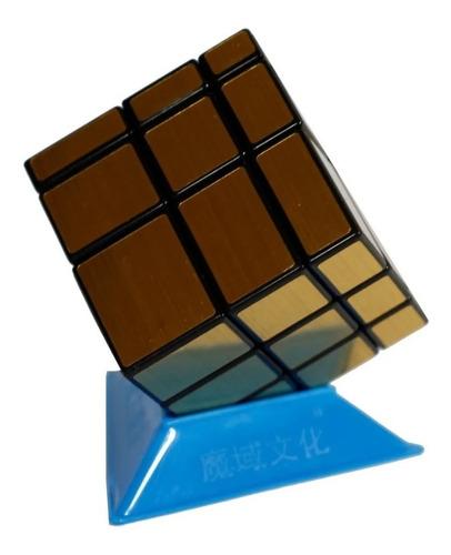 Cubo Rubik Qiyi Mirror 3x3 Dorado