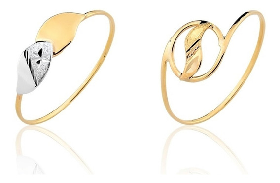 2 Anéis Ouro Puro 10k Coleção Amarelo Puro A18 A20