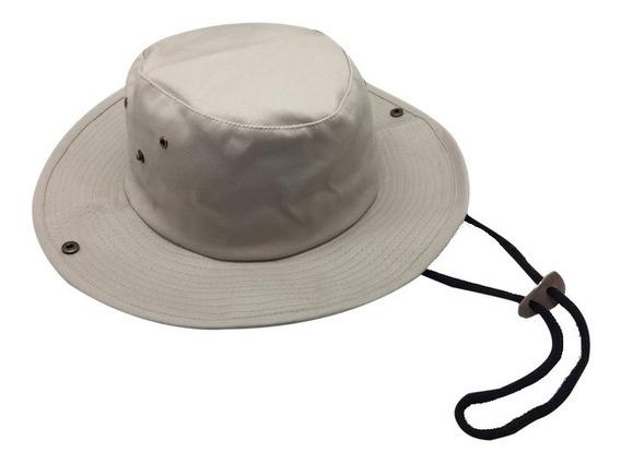 Sombrero Gorro Ala Ancha Tipo Australiano Algodón Uv+50