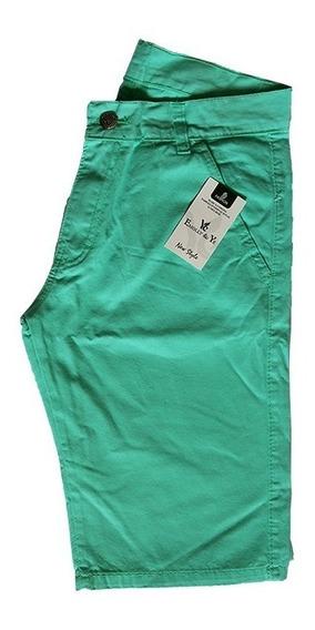 Bermuda Short Masculina Brim Colorida Otima Qualidade