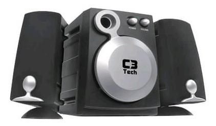 Caixa Multimídia 2.1 Com Subwoofer Ct683601 Preto C3 Tech