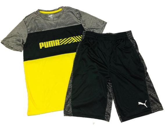 Conjunto Puma Infanto Juvenil Tecido Leve Esportes Verão