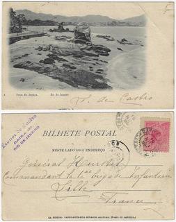 Rio De Janeiro 1904 Cartão Postal Praia De Itapúca Niterói
