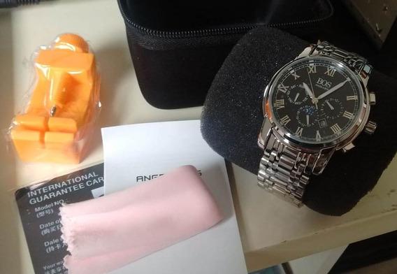 Relógio De Pulso Novo Angela Bos 8008g