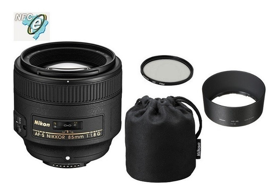Lente Nikon 85mm F/1.8g Fx + Uv 67mm Nota Fiscal