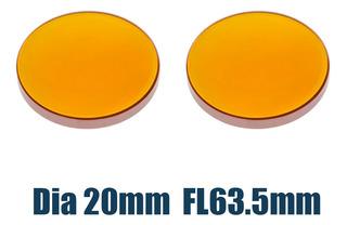 2 Unids Znse Lente De Enfoque De Co2 20mm Fl 63.5mm Máquina
