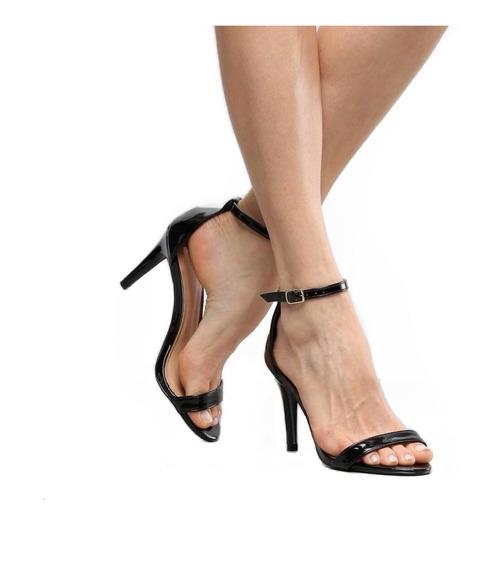Salto Clássico Feminino Luxo Alto 9cm Vegano Tira Slim Look Tedência 2019