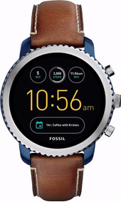 Fossil Geração 3 Smartwatch Q Explorist Stainless Steel Blue
