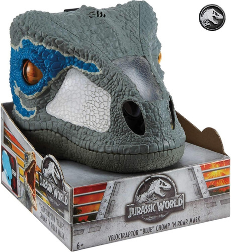 Imagen 1 de 9 de Jurassic World Mascara Interactiva De Velociraptor Blue
