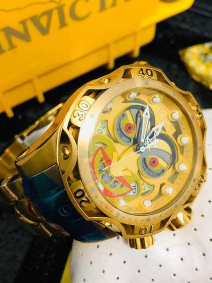 Relógio Invicta The Joker Coringa Dourado