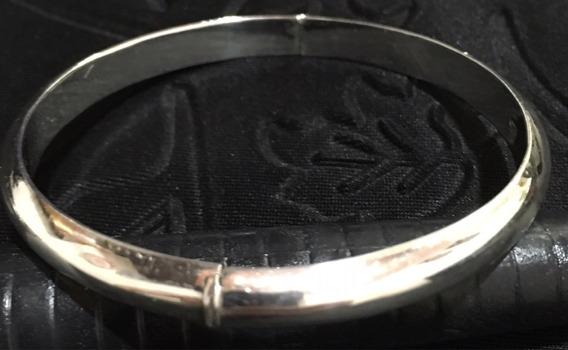 Pulseira Prata De Lei Antiga 6cm Diam Interno 0,6cm Largura