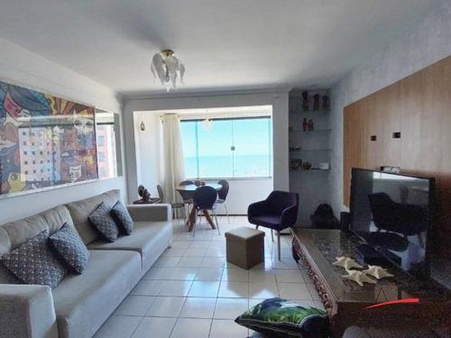 Imagem 1 de 14 de Apartamento Mobiliado Com 2 Quartos E Vista Mar, No Edifício Caravelle Residence - Código: Ap5910