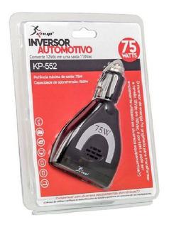 Inversor De Tensão Veicular 12v Para 110v 75w Com Usb - Kp-552