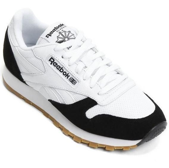 Tênis Reebok Original Classic Leather Spp Bco/pto Masculino