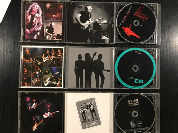 Cds Originales. G3, Joe Satriani, Dream Theater. Kit Colecci