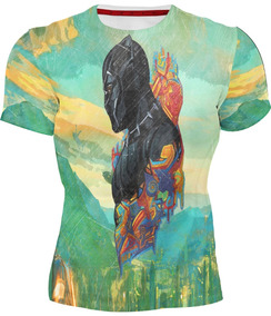 Playera Sublimada Full Print Marvel Black Panther