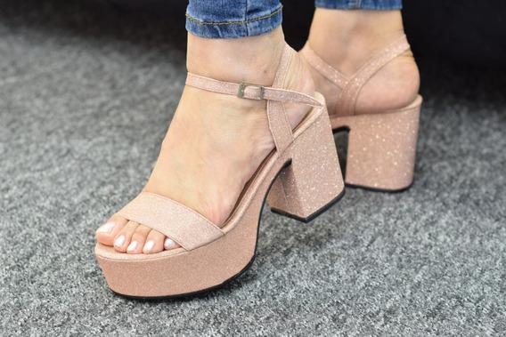 Sandalia Mujer Cuero Dama Fiesta 2019 Moda Art 340