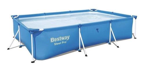 Pileta estructural rectangular Bestway 56404 con capacidad de 3300 litros de 3m de largo x 2.01m de ancho  azul