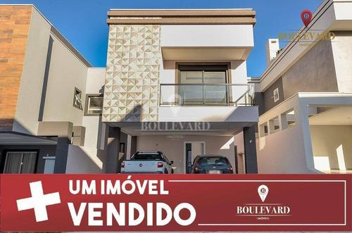 Imagem 1 de 29 de Casa Nova No Condomínio Verona, Com 3 Dormitórios À Venda, 200 M² Por R$ 901.080 - Uberaba - Curitiba/pr - Ca0197