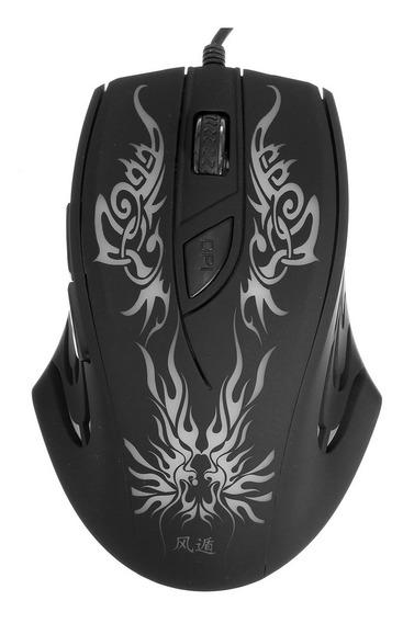 2400 Dpi Colorido Led Luz Usb Com Fio Óptico Gaming Mouse