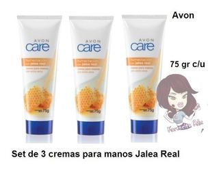 Set De 3 Cremas Para Manos Jalea Real Avon Care