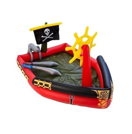 Pileta Pelotero Inflable Barco Pirata 190x140x96 Cm - Luico
