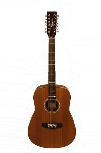 Guitarra Acústica Maciza De 12 Cuerdas