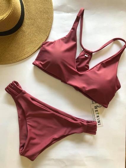 Traje De Baño Bikini Vera Guinda- Wetkini