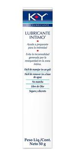 Gel Lubricante Intimo Transparente Soluble En Agua Ky X 50g