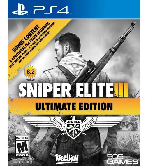 Sniper Elite 3 Ultimate Ps4 Mídia Física Lacrado