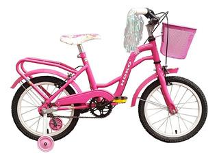 Bicicleta Paseo Dama Rodado 16 Niña - Marca Hoko