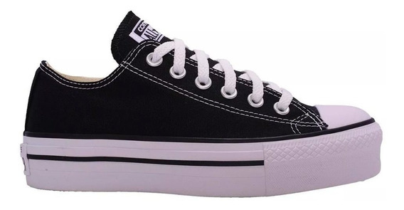 Zapatillas Converse All Star Plataforma Negro - Originales
