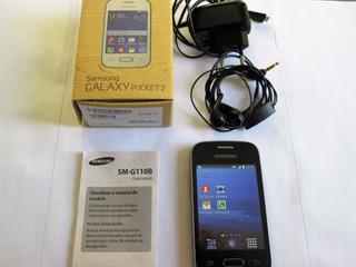 Celular Samsung Pocket 2 + Carregador + Fones Ouvido