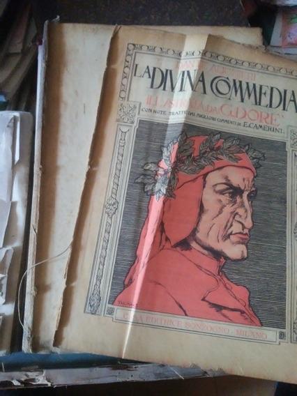 Livro A Divina Comédia De Dante Completo Dore Italiano. 1915