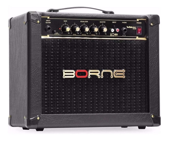 Amplificador Cubo Borne Guitarra Vorax 630 Preto 25w Rms