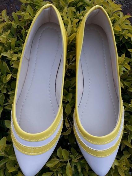 Sapatilha Amarela E Branca