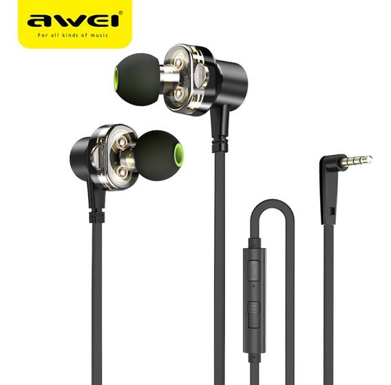 Fone In-ear Awei Z1 Sports Dual Drive Graves Original