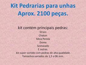 Kit Pedrarias Para Unhas Aprox. 2.100 Peças