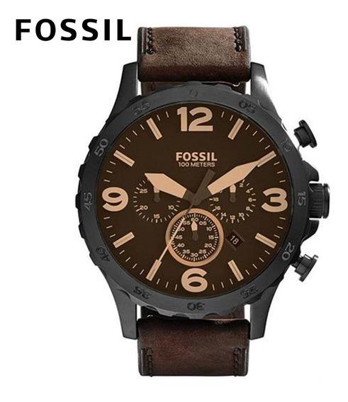 Relógio Masculino Fossil Pulseira De Couro A Prova D